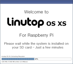 Linutop NOOBS install