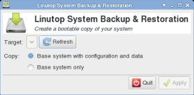 Linux embeded system backup